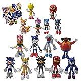 Sonic Big Figure Super Sonic El erizo Juguete Sonic Juguetes Sonic Colas Nudillos Sombras Muñecas Re...