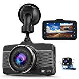 Claoner Dash Cams for Cars Front and Rear 1080P Full HD Dashcam, Dual