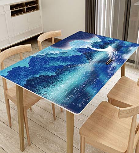 YUDEYU PVC Tischdecke Wasserdicht Ölbeständig Verbrühungsschutz Dreidimensional Rechteck Filet Tischset (Color : E, Size : 70X120CM)