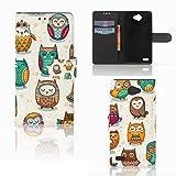 B2Ctelecom Handytasche für LG Bello 2 Schutzhülle Nette Eulen - Geschenkideen Für Mama