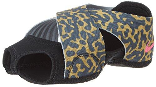 Nike Studio Wrap Women's Dance Shoes, Black/Gold Lead/Wolf Grey/Hyper Pink, X-Small