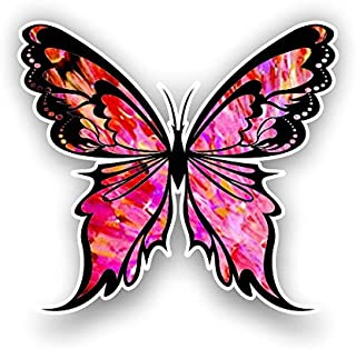 Vinyl Junkie Graphics Monarch Butterfly Sticker 14 Custom Color Patterns (red-Pink)