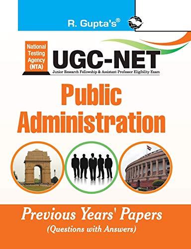 NTA-UGC-NET/JRF: Public Administration (Paper I & Paper II) Previous Years Paper (Solved): Public Administration Previous Papers