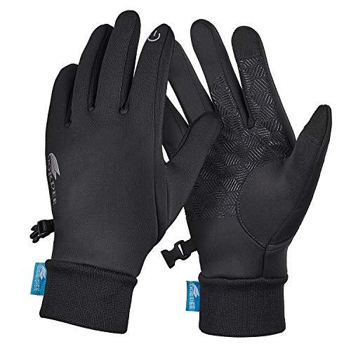 Paraffin Touchscreen-Handschuhe, Winterhandschuhe für Outdoor-Sport, Fahren, Laufen, Radfahren - Schwarz - X-Large