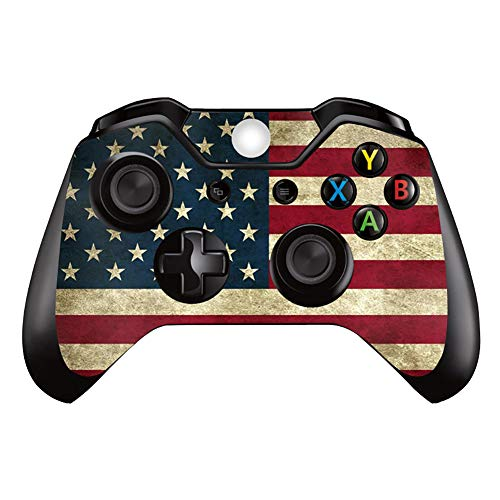 UUShop USA Flag Stars and Stripes Vinyl Skin Decal Cover for Microsoft Xbox One Controller wrap Sticker Skins
