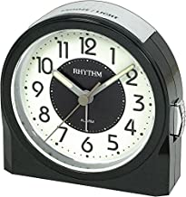 Rhythm Alarm And Table Clock 8Re647Wr02 - Black And White