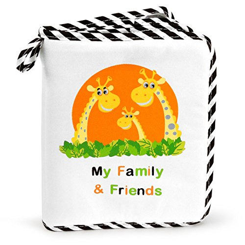 Babys My Family & Friends First Photo Album - Cute Giraffe Family Theme!