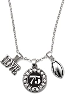 Silver Circle Charm 18 Inch Necklace with Cubic Zirconia Jewelry