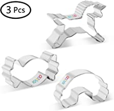 KAZOO Kids Food Shapes Cookie Cutter Kids Sandwich Cookie Cutters Shapes Mini Vegetable Fruit Cutter Shapes-Unicorn Candy Cloud, 3pcs Stainless Steel