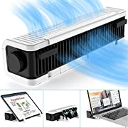 Klearlook Laptop Cooler Adjustable Cooling Stand,USB Laptop Cross-flow Cooling Fan & Pad [3-Speed ,Vertical and Horizontal Standing]Multi Function Turbine Cooler Cooling Holder for Laptop Tablet Phone