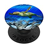 Sea Turtle Swimming Pop Socket Phone Stand Mount PopSockets PopGrip: Swappable Grip for Phones & Tablets