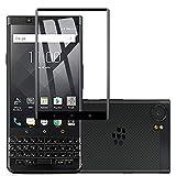 Voviqi Panzerglas für BlackBerry Keyone, Hüllenfre&lich Vollständige Abdeckung Schutzfolie gehärtetem Glas Folie Blasenfrei Volle Abdeckung Bildschirmschutzfolie für BlackBerry Keyone (Schwarz)