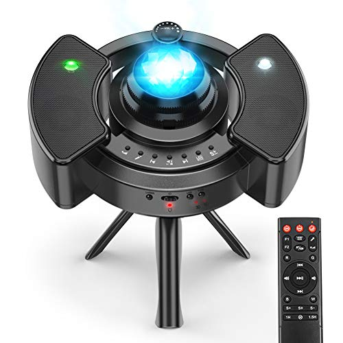 Proyector Estrellas Galaxia, 43 Modos, Bluetooth Jugador/control remoto/Temporizador, Regalo Bebe/Decor/Iluminación de la Habitación, Proyector Estrellas Techo Adultos - Infantil - Bebe Hiroumer
