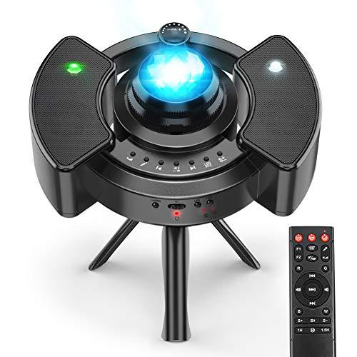 Proyector Estrellas Galaxia, 43 Modos, Bluetooth Jugador/ control remoto/Temporizador , Regalo Bebe/Decor/Iluminación de la Habitación , Proyector Estrellas Techo Adultos - Infantil - Bebe Hiroumer