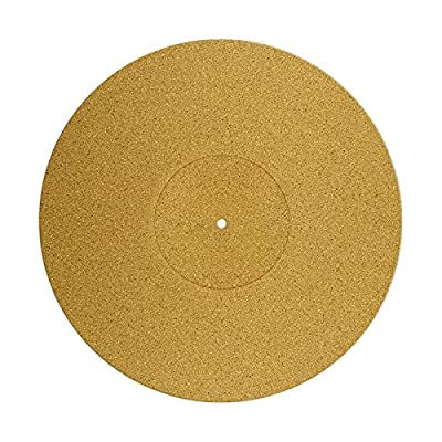 Premium quality Cork Turntable Mat. Non-Slip, improved sound quality, reduced vibrations