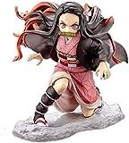 Woprise Action Figure Demon Slayer Kamado Nezuko Anime Figurine Character Model PVC Handmade Statue Ornamenti per il Desktop Collezionismo Giocattoli di ruolo Bambola Regali di Compleanno per Bambini