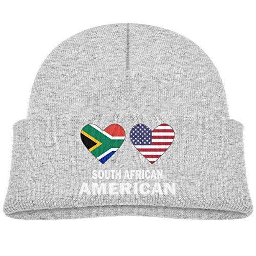 Voxpkrs South African American Hearts Baby Infant Toddler Winter Warm Beanie Hat Cute Children's Thick Stretchy Cap Cool 32325