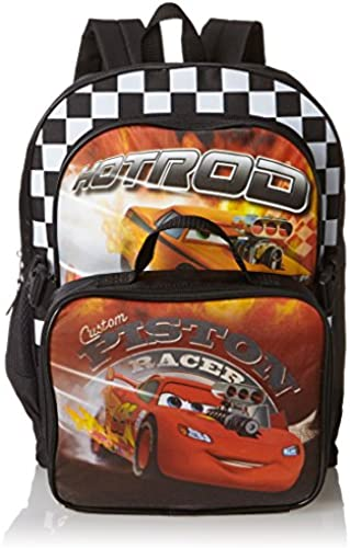 Disney Pixar Cars Boys Backpack With Detachable Lunch Bag - 16 Inch