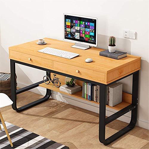 Accesorios de decoración Escritorio de oficina de madera Escritorio de computadora Escritorio de madera con cajón Escritorio de escritorio para dormitorio Estación de trabajo para oficina en casa (