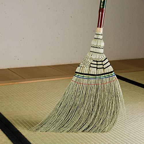 アズマ工業アズマ室内用ほうき手編みホーキ特撰短柄穂幅31cm全長79cm天然繊維・しなやかな穂AZ112ブラウン