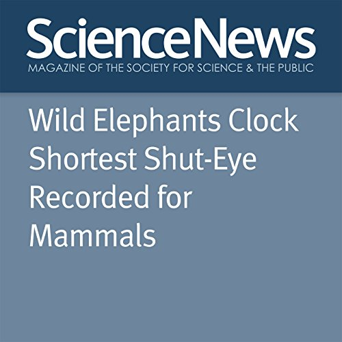 Wild Elephants Clock Shortest Shut-Eye Recorded for Mammals audiobook cover art