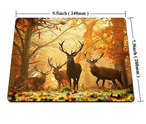 Smooffly Wildlife Gaming Mouse Pad,Milu Deer Mouse Pad Photo #4