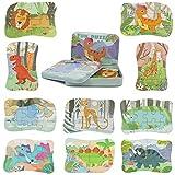 Puzzle Madera Dinosaurios Montessori Juguetes-Puzzles Infantiles Juguete Educativo Montessori Regalo Niños 2 3 4 5 Años Rompecabezas Juego Dinosaurios Regalos Preescolar Juguetes para 2 3 4 Años Niños
