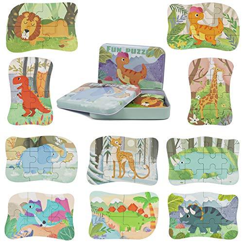 Giochi Legno Puzzle Bambini Montessori-Puzzle Dinosauri Giochi Educativi Bambina Bambini 2...