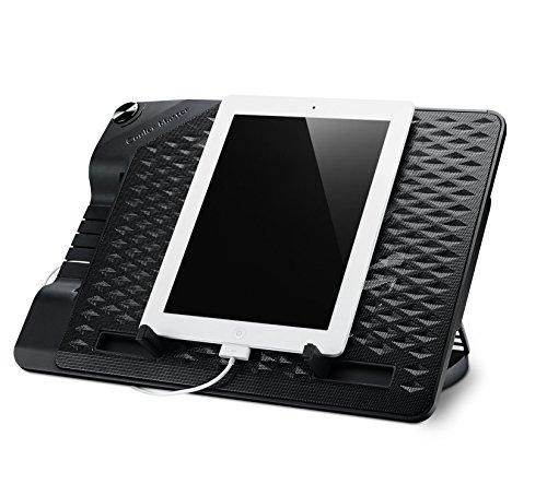 Cooler Master ERGOSTAND III Notebook-Kühler 'Einstellbarer Winkel, USB Hub, Kompatibel mit bis zu 17 Zoll Laptops' R9-NBS-E32K-GP