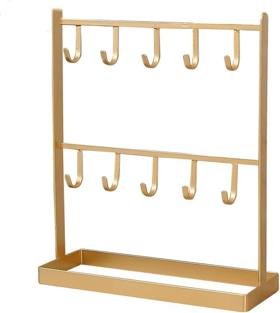ASMKW Desktop Wrought Iron Key Max 78% OFF Shelf Door Hanger Jewelry Popular popular Storage