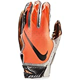 Nike Football Glove - Vapor Jet 5.0 (Wolf Grey/Total Orange/Anthracite, Small)