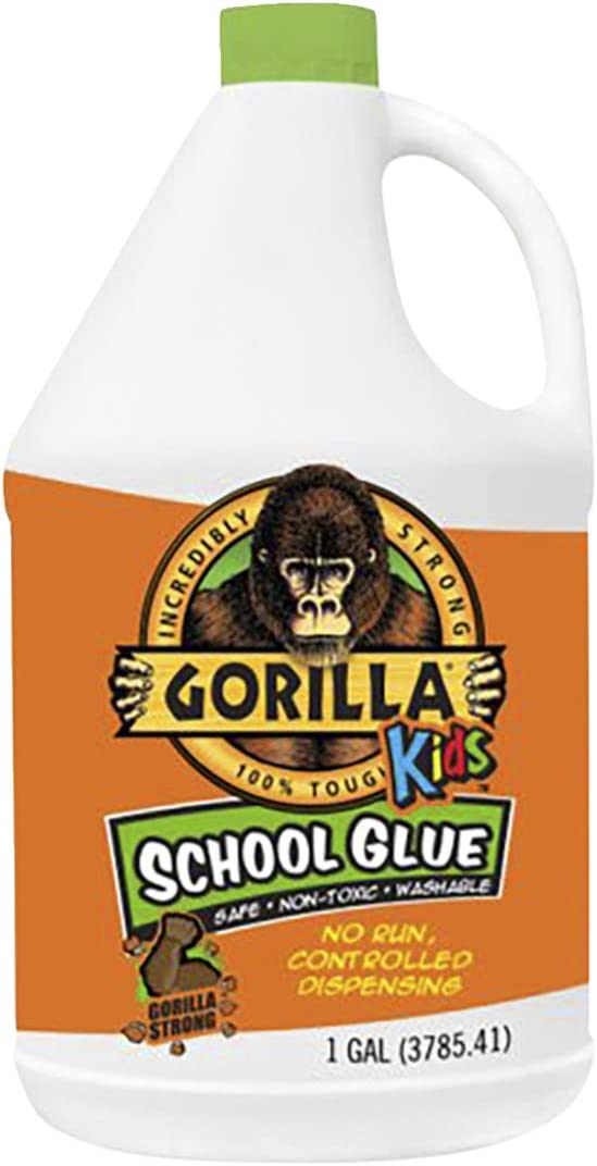 Gorilla Kids National products School Louisville-Jefferson County Mall Glue 1 gallon Pack Bottle White of