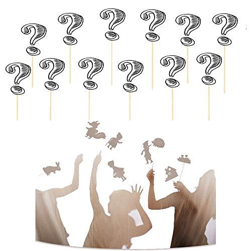 LTKJ 1/2/3/4Pcs Marionetas De Sombras para Niños Juego Educativo De Silueta Educativa Cuentos De Hadas para, Imagen De Marionetas De Mano Juego De Cognición Entre Padres E Hijos E-2PCS-Random