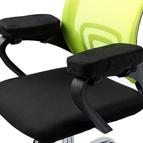ANSUG 2 Stück Stuhl Armlehne Pad, Memory Foam Ellenbogen Kissen abnehmbare Stuhl Arm Abdeckungen für Bürostühle und Rollstuhl - Größe 9,8 * 3 * 1,4