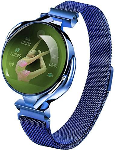 JSL Reloj inteligente para mujer, impermeable, Bluetooth, con Bluetooth, frecuencia cardíaca, presión arterial, seguimiento de actividad física, recordatorio menstrual femenino