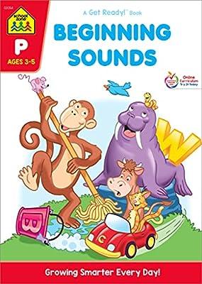 School Zone - Beginning Sounds Workbook - Ages 3 to 5, Preschool to Kindergarten, Letter-Object and Letter-Sound Association, Letter Sounds, Alphabet, and More (School Zone Get Ready!? Book Series)