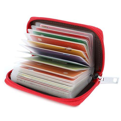 Tarjeteros para Tarjetas de Credito 26 Ranuras (Rojo)