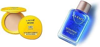 Lakmé Sun Expert Ultra Matte SPF 40 PA+++ Compact, 7g & Lakmé Nail Color Remover, 27ml