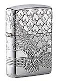 Zippo Patriotic Design Pocket Lighter, High Polish Chrome, One Size (49027)