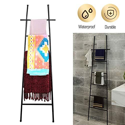 Decoratieve Ladder Rack, Deken Ladder Houder, Quilt Rack Gratis Staand Metaal, 6 Tier Metalen Handdoek Bar Stand Handdoek Ladder Rack, Handdoek Valet Stand voor Zwembad, Badkamer, Keuken