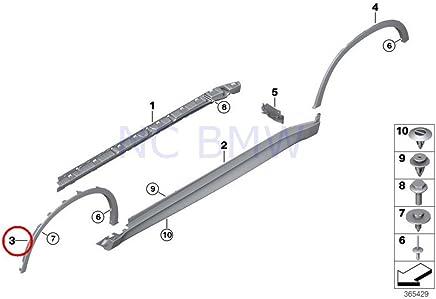 Lorsoul 4PCS Set Pare-Boue pour Voiture de Remplacement pour BMW S/érie 3 F30 F31 Fender Flare bavettes Garde-Boue Garde-Boue
