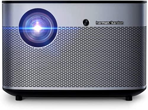 Proyector QOHG Home Proyector 1350 Lumens 1080P LED DLP Video 3D WiFi Bluetooth Smart Theatre Family Entertainment