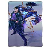 LXHQ JoJo's Bizarre Adventure - Stardust Crusaders and Stand-in Anime Throw Blanket Flannel Microfiber Lightweight Fluffy Cozy Blankets for Bedroom Living Room Sofa (200×150cm,Thin Blanket)