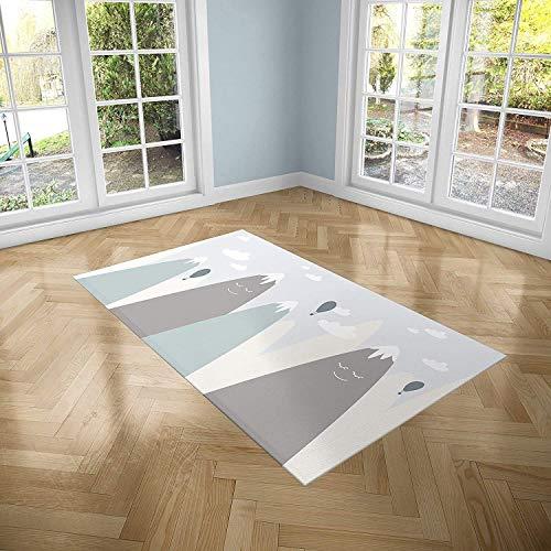 Oedim Alfombra Infantil Montañas para Habitaciones PVC | 95 x 200 cm | Moqueta PVC | Suelo vinílico | Decoración del Hogar | Suelo Sintasol | Suelo de Protección Infantil |