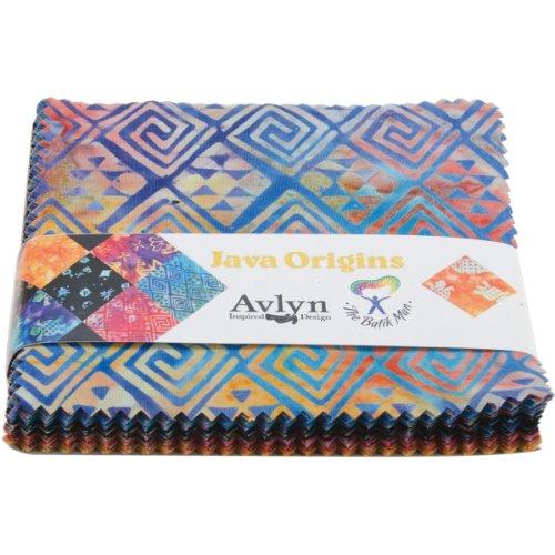 "Avlyn Fabrics The Batik Man Charm Pack 5""X5"" Cuts-Java Origins"
