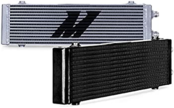 Mishimoto MMOC-DP-LSL Silver Bar and Plate Oil Cooler (Universal Dual Pass, Large)