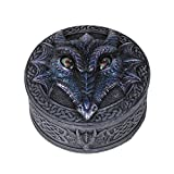 Pacific Giftware Novelty Rolling Eye Fantasy Dragon Resin Trinket Box Collectible