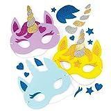 Baker Ross Kits de masques en mousse Licornes (lot de 4) - Loisirs créatifs pour enfants