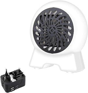 YLOVOW Mini Calefactor, Silence Mini Calentador De Ventilador De Cerámica Eléctrico Portátil Función Protección contra Sobrecalentamiento, para Hogar Y Oficina,Blanco