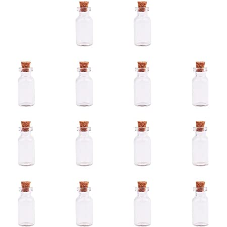 Assorted Colors 1PC 24x14MM Small Bull Glass Bottles for necklace pendants